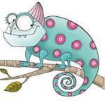 foto di un camaleonte logo dell'associazione Emovere